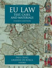 EU Law; Text, Cases and Materials
