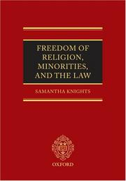 Freedom of Religion, Minorities, and the Law by Samantha Knights