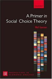 A Primer in Social Choice Theory (LSE Perspectives in Economic Analysis)