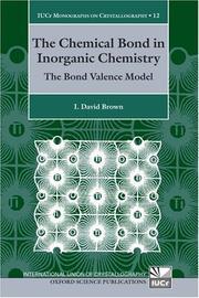 The Chemical Bond in Inorganic Chemistry PDF