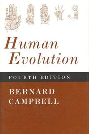 Human evolution by Bernard Grant Campbell