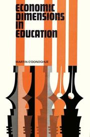 Economic dimensions in education by Martin O'Donoghue
