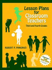 Lesson plans for classroom teachers by Robert P. Pangrazi