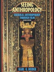 Seeing Anthropology by Karl G. Heider