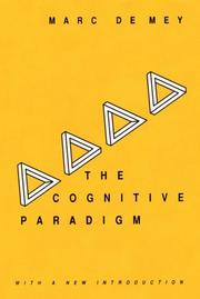 The cognitive paradigm by Marc de Mey