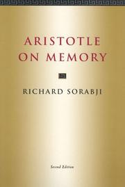 Aristotle on memory by Richard Sorabji
