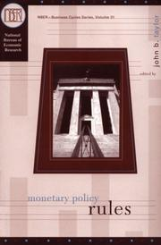 Monetary Policy Rules (National Bureau of Economic Research Studies in Income and Wealth) PDF