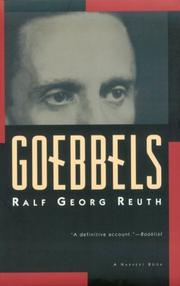 Goebbels by Ralf Georg Reuth