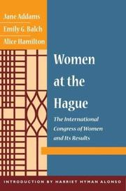 Women at the Hague by Jane Addams