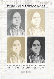 Mary Ann Shadd Cary by Jane Rhodes