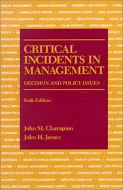 Critical incidents in management PDF