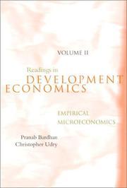 Readings in development microeconomics