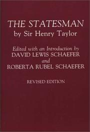 The statesman by Taylor, Henry Sir