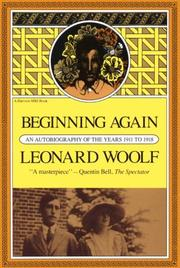Beginning again by Leonard Woolf