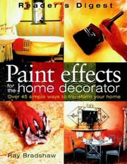 Paint effects for the home decorator PDF