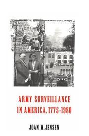 Army surveillance in America, 1775-1980 PDF