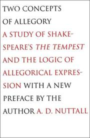 Two concepts of allegory by Nuttall, A. D.