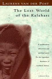 The lost world of the Kalahari PDF