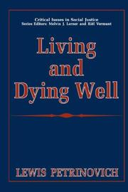 Living and dying well PDF