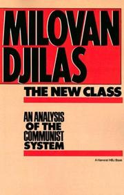 The new class by Djilas, Milovan
