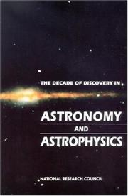 The decade of discovery in astronomy and astrophysics PDF