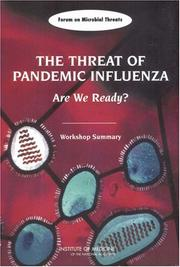 Threat of Pandemic Influenza: Are We Ready? PDF