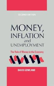 Money, inflation, and unemployment by David Gowland