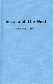 Asia and the West by Maurice Zinkin