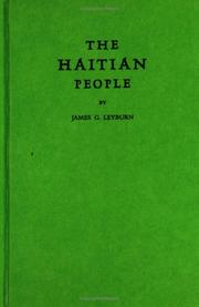 The Haitian people by James Graham Leyburn