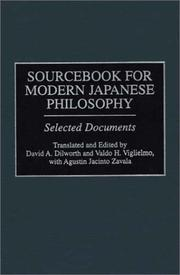 Sourcebook for modern Japanese philosophy : selected documents