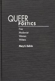 Queer poetics by Mary E. Galvin