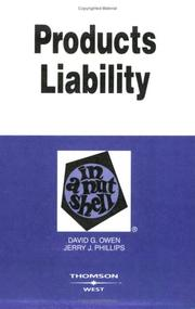 Products liability in a nutshell PDF