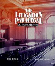 The litigation paralegal by James W. H. McCord