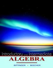 Cover of: Introductory and intermediate algebra: a combined approach