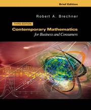 Contemporary mathematics for business and consumers PDF