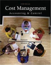 Cost management by Don R. Hansen
