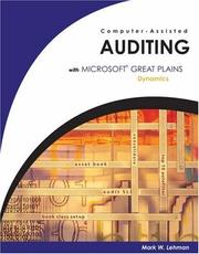 Cover of: Computer Assisted Auditing with Great Plains Dynamics Revised
