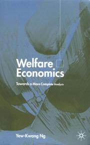 Welfare economics by Yew-Kwang Ng