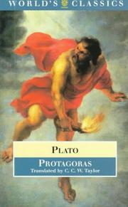 Cover of: Protagoras by Plato