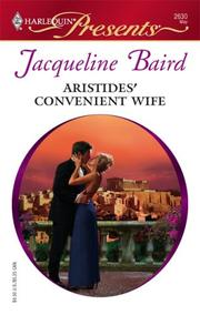 Aristides&#39; Convenient Wife by Jacqueline Baird