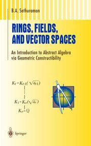 Rings, fields, and vector spaces PDF