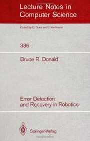 Error detection and recovery in robotics PDF