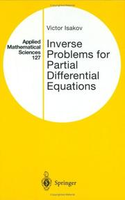 Inverse problems for partial differential equations by Victor Isakov