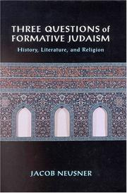 Three Questions of Formative Judaism PDF