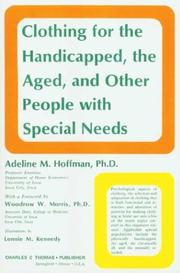 Clothing for the handicapped, the aged, and other people with special needs PDF