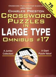 Crosswords Puzzles in Large Type #17 (Crossword Puzzles in Large Type) PDF
