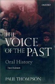 The voice of the past PDF