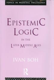 Epistemic logic in the later Middle Ages PDF