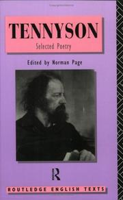 Cover of: Alfred Lord Tennyson by Alfred, Lord Tennyson