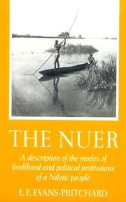 The Nuer by E. E. Evans-Pritchard